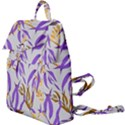 Floral Boho Watercolor Pattern Buckle Everyday Backpack View1