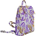 Floral Boho Watercolor Pattern Buckle Everyday Backpack View2