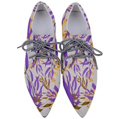 Floral Boho Watercolor Pattern Pointed Oxford Shoes