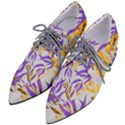 Floral Boho Watercolor Pattern Pointed Oxford Shoes View2