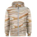 Brown And Yellow Abstract Painting Men s Zipper Hoodie View1