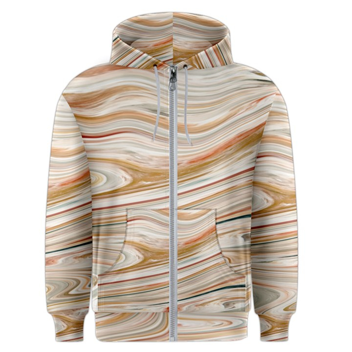 Brown And Yellow Abstract Painting Men s Zipper Hoodie