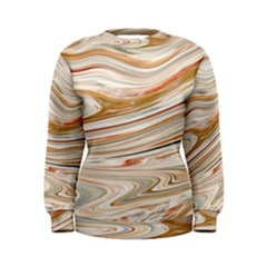 Brown And Yellow Abstract Painting Women s Sweatshirt