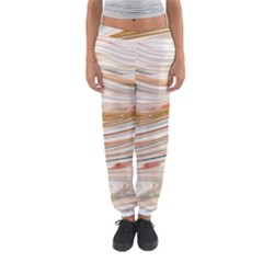 Brown And Yellow Abstract Painting Women s Jogger Sweatpants