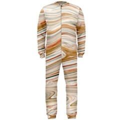 Brown And Yellow Abstract Painting Onepiece Jumpsuit (men)