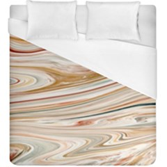 Brown And Yellow Abstract Painting Duvet Cover (king Size) by Pakrebo