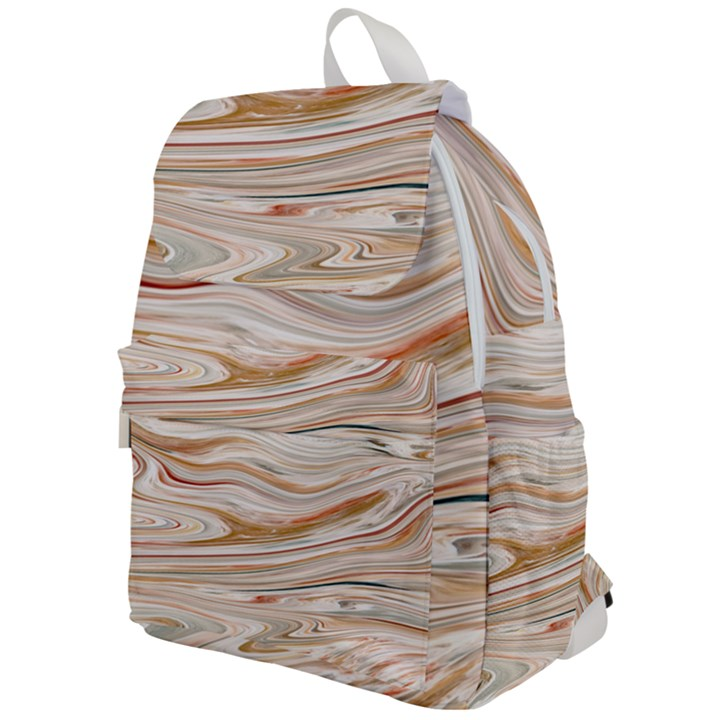 Brown And Yellow Abstract Painting Top Flap Backpack