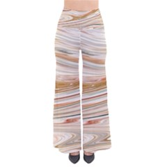 Brown And Yellow Abstract Painting So Vintage Palazzo Pants