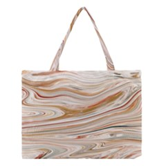 Brown And Yellow Abstract Painting Medium Tote Bag