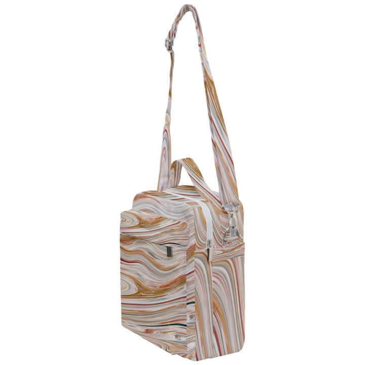 Brown And Yellow Abstract Painting Crossbody Day Bag