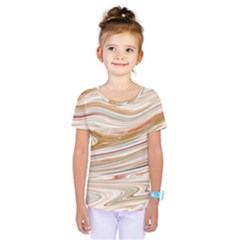 Brown And Yellow Abstract Painting Kids  One Piece Tee
