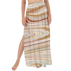 Brown And Yellow Abstract Painting Maxi Chiffon Tie Up Sarong