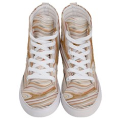 Brown And Yellow Abstract Painting Women s Hi Top Skate Sneakers