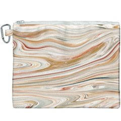 Brown And Yellow Abstract Painting Canvas Cosmetic Bag (xxxl)