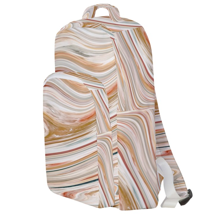 Brown And Yellow Abstract Painting Double Compartment Backpack