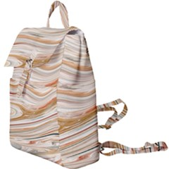 Brown And Yellow Abstract Painting Buckle Everyday Backpack