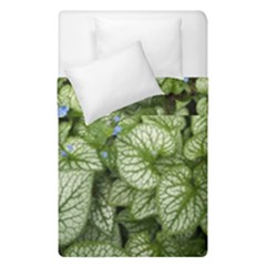 Green And White Leaf Plant Duvet Cover Double Side (single Size) by Pakrebo