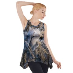 Dried Leafed Plants Side Drop Tank Tunic