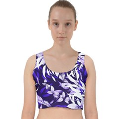 Floral Boho Watercolor Pattern Velvet Racer Back Crop Top by tarastyle