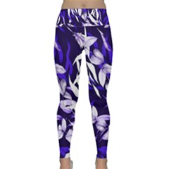 Floral Boho Watercolor Pattern Lightweight Velour Classic Yoga Leggings by tarastyle