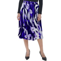 Floral Boho Watercolor Pattern Classic Velour Midi Skirt  by tarastyle