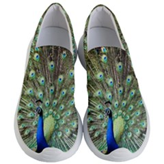 Blue And Green Peacock Women s Lightweight Slip Ons