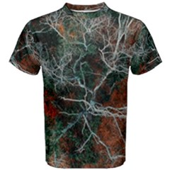 Aerial Photography Of Green Leafed Tree Men s Cotton Tee