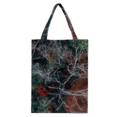 Aerial Photography Of Green Leafed Tree Classic Tote Bag