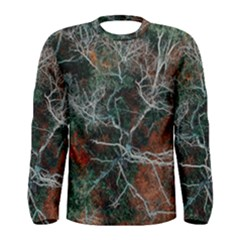 Aerial Photography Of Green Leafed Tree Men s Long Sleeve Tee