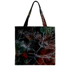 Aerial Photography Of Green Leafed Tree Zipper Grocery Tote Bag