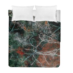 Aerial Photography Of Green Leafed Tree Duvet Cover Double Side (full/ Double Size)