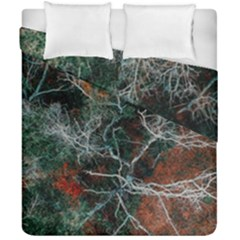 Aerial Photography Of Green Leafed Tree Duvet Cover Double Side (california King Size)