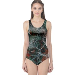 Aerial Photography Of Green Leafed Tree One Piece Swimsuit