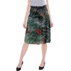 Aerial Photography Of Green Leafed Tree Midi Beach Skirt