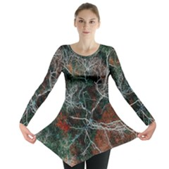 Aerial Photography Of Green Leafed Tree Long Sleeve Tunic