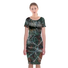 Aerial Photography Of Green Leafed Tree Classic Short Sleeve Midi Dress