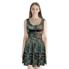 Aerial Photography Of Green Leafed Tree Split Back Mini Dress