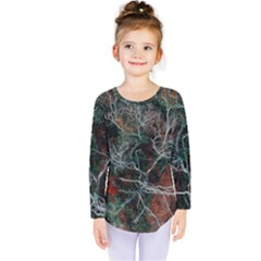 Aerial Photography Of Green Leafed Tree Kids  Long Sleeve Tee