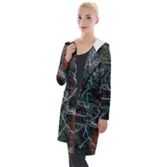 Aerial Photography Of Green Leafed Tree Hooded Pocket Cardigan