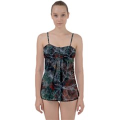 Aerial Photography Of Green Leafed Tree Babydoll Tankini Set by Pakrebo