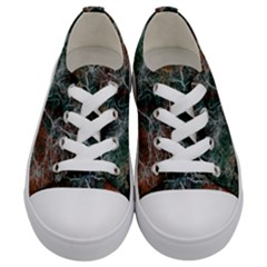 Aerial Photography Of Green Leafed Tree Kids  Low Top Canvas Sneakers