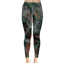 Aerial Photography Of Green Leafed Tree Inside Out Leggings