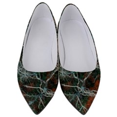 Aerial Photography Of Green Leafed Tree Women s Low Heels