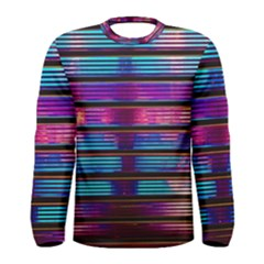 Blue And Pink Wallpaper Men s Long Sleeve Tee