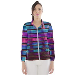 Blue And Pink Wallpaper Women s Windbreaker