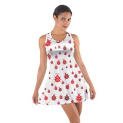 Beetle Animals Red Green Flying Cotton Racerback Dress by Alisyart