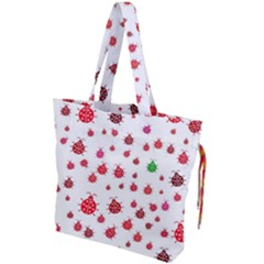 Beetle Animals Red Green Flying Drawstring Tote Bag