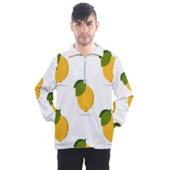 Lemon Fruit Men s Half Zip Pullover