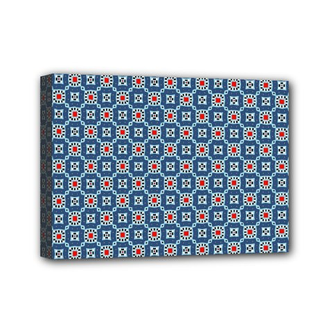 Geometric Tile Mini Canvas 7  X 5  (stretched) by Mariart