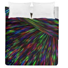 Explosion Fireworks Rainbow Duvet Cover Double Side (queen Size)
